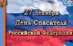 День спасателя российской федерации (27 декабря)