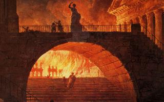Пожар в древнем в риме (июль 64 года).