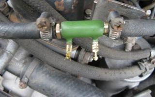 Подогреватель дизельного топлива охлаждающей жидкостью