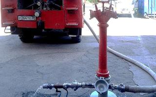 Стенд гидравлического испытания птв и пожарной колонки