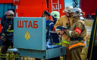 Штаб пожаротушения (оперативный штаб на месте пожара)