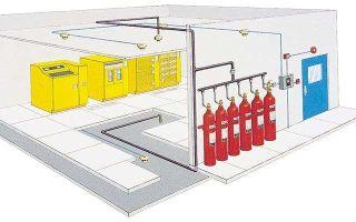 Газовые установки пожаротушения: типы, устройство, требования, применение