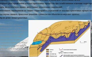 Геокриологические опасности. определение.