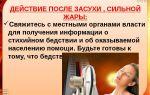 Действия (правила поведения) населения при сильной жаре (засухе)