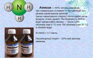 Аммиак (нитрид водорода)