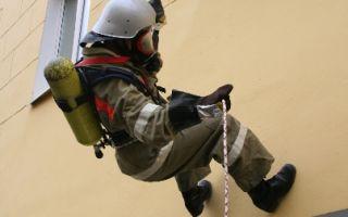 Самоспасание с помощью спасательной веревки