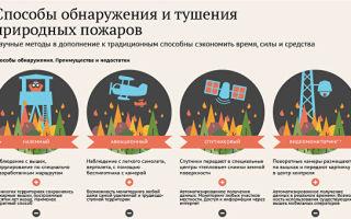Способы обнаружения (мониторинг) и тушения природных пожаров