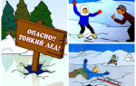 Осторожно тонкий лед и его опасности