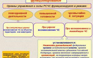 Действия органов управления и сил рсчс