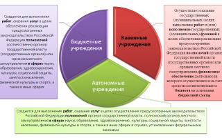 Типы государственных (муниципальных) учреждений
