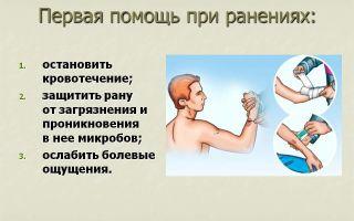 Первая помощь при ранениях. тема 4
