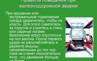Действия при аварии на жд транспорте и правила поведения в поездах