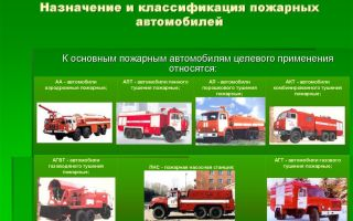 Классификация пожарных автомобилей и спасательной техники