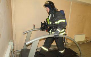 Занятие в теплодымокамере: тренировка пожарных