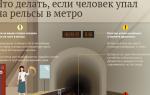 Что делать если вы упали на рельсы в метро: ваши действия